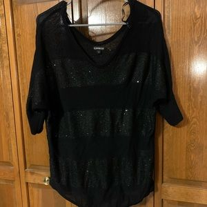 Express sweater with sequin stripe